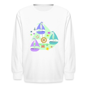 sailboats kid's long sleeve tshirt - Kids' Long Sleeve T-Shirt