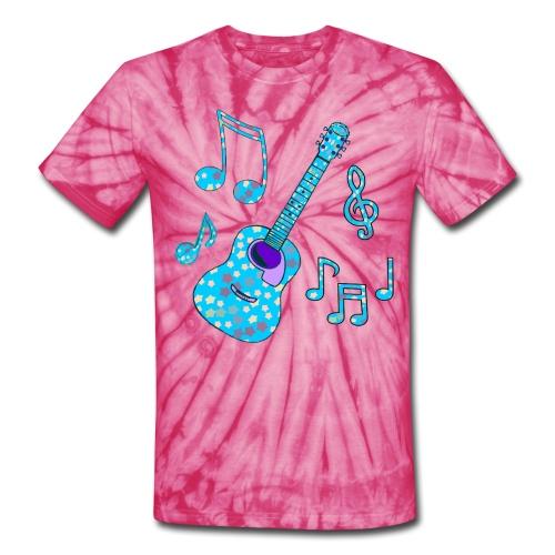 stars and guitar unisex tshirt - Unisex Tie Dye T-Shirt