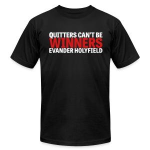 Quitters Can't Be Winners - Men's Fine Jersey T-Shirt