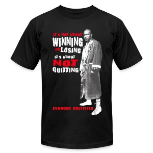 NO QUIT - Men's T-Shirt by American Apparel