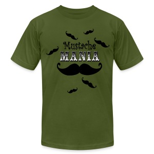mustache mania men's tshirt - Men's T-Shirt by American Apparel