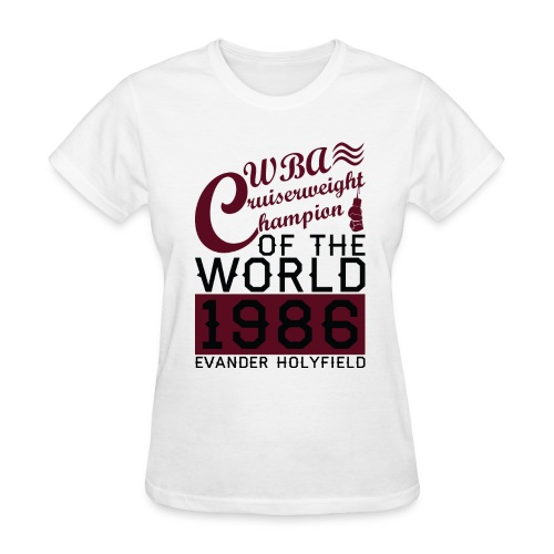 1986 WBA Cruiserweight Champion - Women's T-Shirt