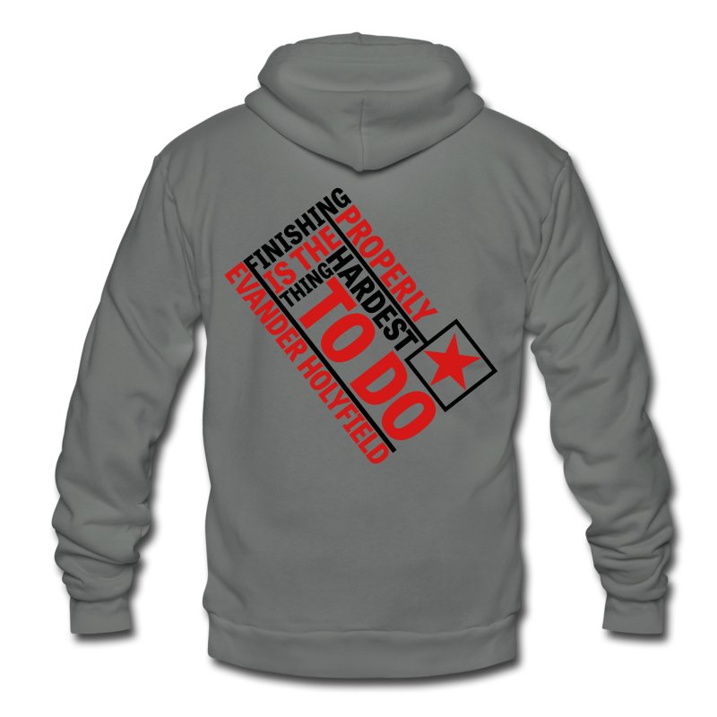 Finishing Properly - Unisex Fleece Zip Hoodie