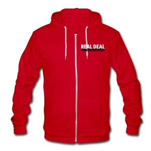 Real Deal - Unisex Fleece Zip Hoodie by American Apparel