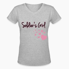 Soldier's Girl with Hearts