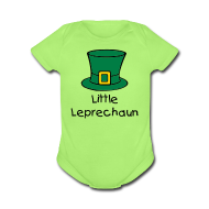 Baby Bodysuits ~ Baby Short Sleeve One Piece ~ Little Leprechaun Baby One-Piece