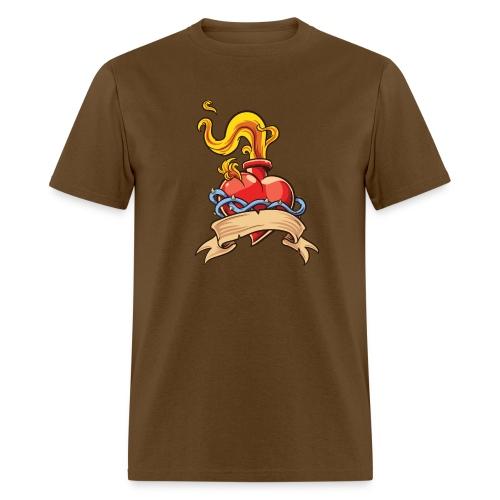 Flaming heart - Men's T-Shirt