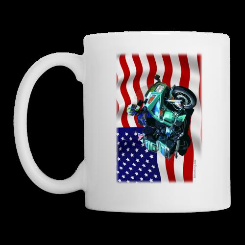 USA Flag Voy Mug Two Sides - Coffee/Tea Mug