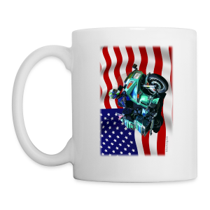 USA Flag Voy Mug One Side - Coffee/Tea Mug