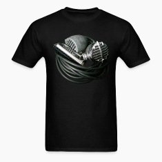 Vintage Microphones and Harmonica tee shirt