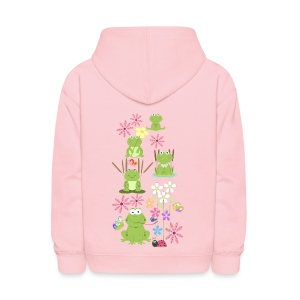 frogs and flowers  - Kids' Hoodie