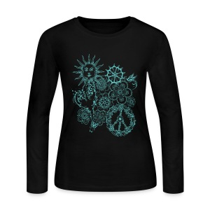 hippie doodle - Women's Long Sleeve Jersey T-Shirt
