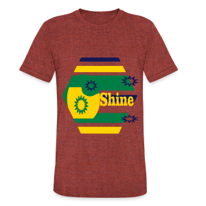 Shine - Unisex Tri-Blend T-Shirt by American Apparel