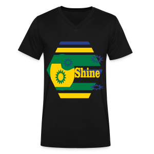 Shine - Men's V-Neck T-Shirt by Canvas