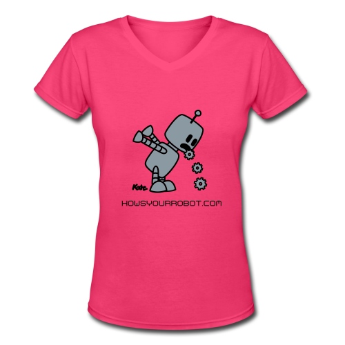 Sick Robot HYR - Women's V-Neck T-Shirt