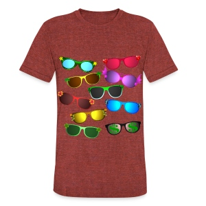 sunglasses - Unisex Tri-Blend T-Shirt by American Apparel