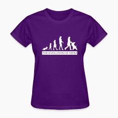 The Evolution of Mom Women's Funny T-Shirt