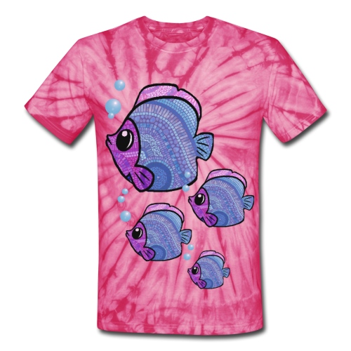 mosaic fish - Unisex Tie Dye T-Shirt
