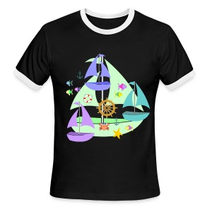 sailboats - Men's Ringer T-Shirt