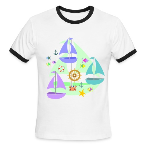 sailboats - Men's Ringer T-Shirt