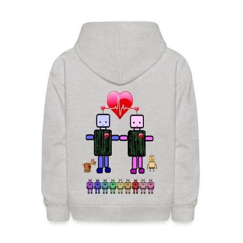 robot love - Kids' Hoodie