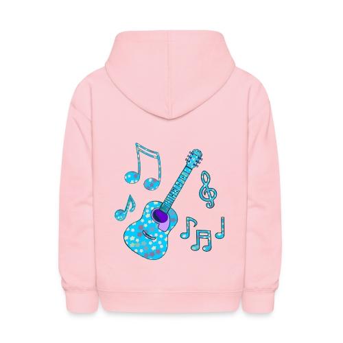 stars and guitar - Kids' Hoodie