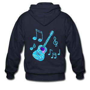 stars and guitar - Men's Zip Hoodie