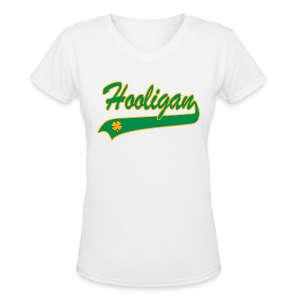St. Paddy Hooligan - Women's V-Neck T-Shirt