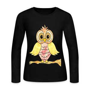 paisley owl - Women's Long Sleeve Jersey T-Shirt
