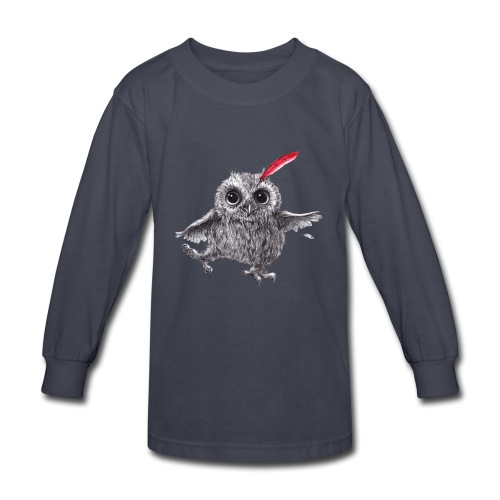 Chief Red - Happy Owl - Kids' Long Sleeve T-Shirt