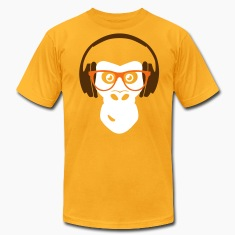 gorilla with headphones T-Shirts