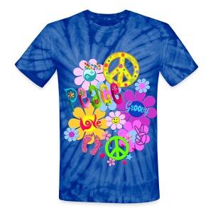 hippie - Unisex Tie Dye T-Shirt