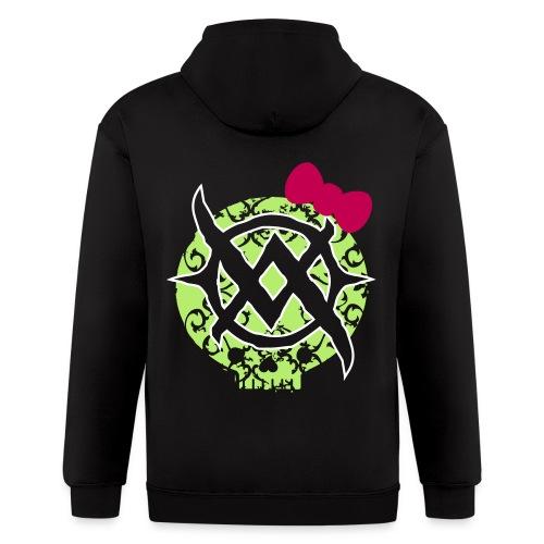 Bow Skull Back Logo Zip Hoodie - Men's Zip Hoodie