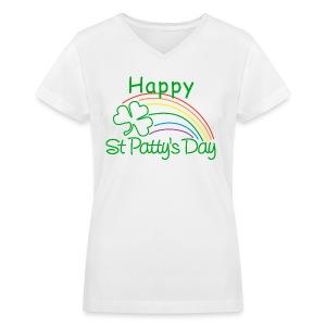 Happy St. Patty's Day - Women's V-Neck T-Shirt