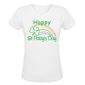 Happy St. Patty's Day - Women's V-Neck T-Shirt
