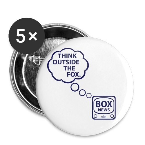 * Think Outside the Fox [LARGE]  - Buttons large 2.2'' (5-pack)