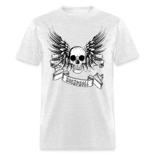 Rock & Roll Winged Skull - (MSW) - Men's T-Shirt