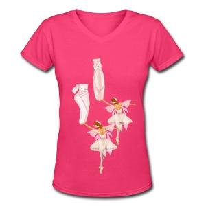 fairy ballet - Women's V-Neck T-Shirt