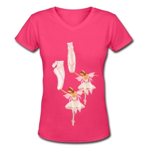 fairy ballet - Women's V-Neck T-Shirt