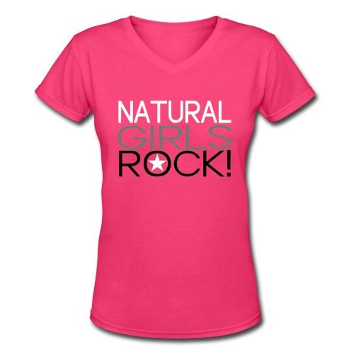 Natural Girls Rock - Women's V-Neck T-Shirt