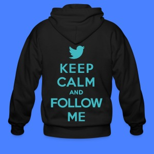 Keep Calm and Follow Me Twitter Zip Hoodies/Jacket - Men's Zip Hoodie