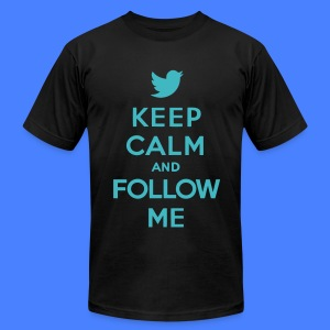 Keep Calm and Follow Me Twitter T-Shirts - Men's T-Shirt by American Apparel