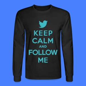 Keep Calm and Follow Me Twitter Long Sleeve Shirts - Men's Long Sleeve T-Shirt