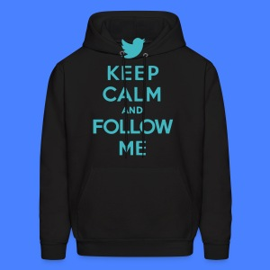 Keep Calm and Follow Me Twitter Hoodies - Men's Hoodie