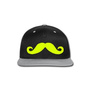 Mustache Hat Yellow  - Snap-back Baseball Cap