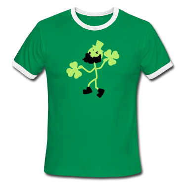 Irish man's dance Men's Ringer T-Shirt by American