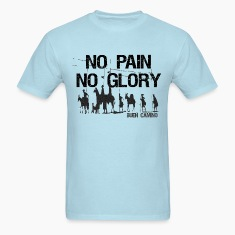 No Pain No Glory Men's Standard Weight T-Shirt