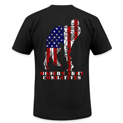 MACP Knee Fighter USA Flag Slim Fit - Men's Fine Jersey T-Shirt