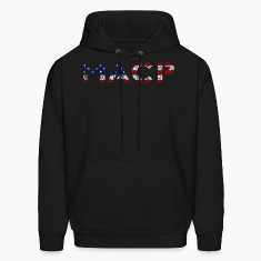MACP Knee Fighter USA Flag Distressed Hoodie