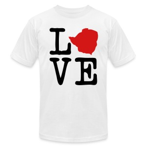 I Love Zimbabwe - Men's T-Shirt by American Apparel